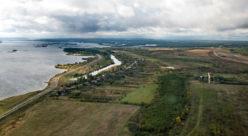 Аэрофото деревни Майдан с востока