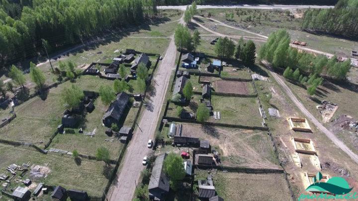 Аэросъемка посёлка Алешкино Килемарского района
