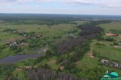 Вид на деревню Подгорные Шари с Сотнурской возвышенности