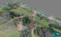 Анаглифическое изображение озера Морской глаз с севера