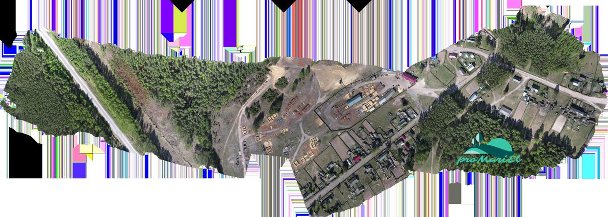 Панорама поселка Алешкино Килемарского района Марий Эл